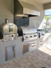 Elegant Outdoor Kitchens Custom Outdoor Barbecue Island
